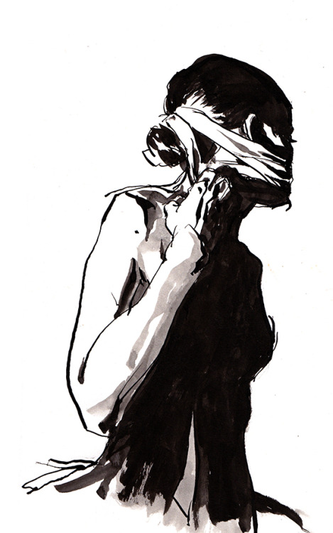 quick ink study for an alternative Black Swan idea…