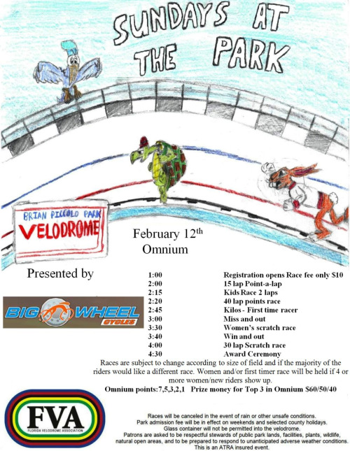 THIS WEEKEND AT BRIAN PICCOLO PARK   The Sundays At The Park racing series at Brian Piccolo Park Velodrome in Miami continues this weekend and every other Sunday till the end of the season.