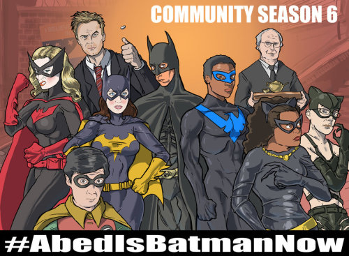 Abed Is Batman Now by kinjamin