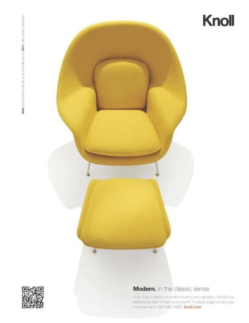 Womb Chair (1946) / Eero Saarinen / Knoll seen before here and here