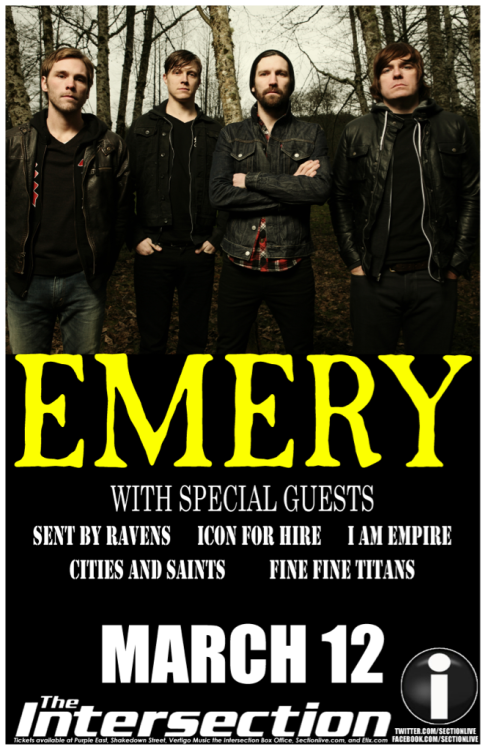 We're opening for Emery!!