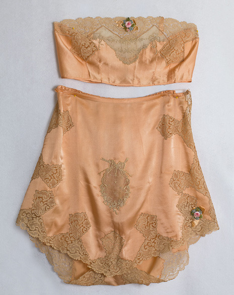 Exquisite 1920s silk and lace lingerie.