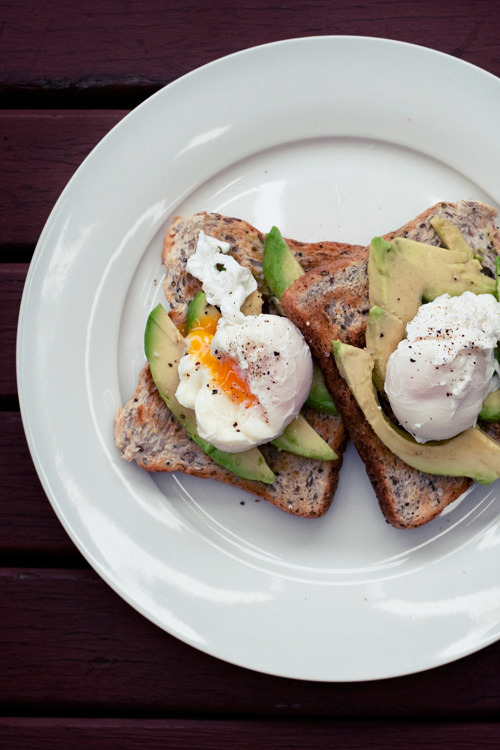 poached eggs and avocado on toast from Alana Bread