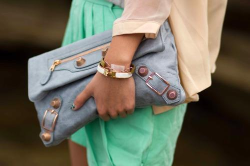 Pastels and that bag!
