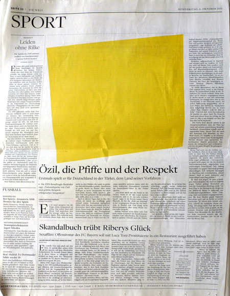 artlog:  German newspaper replaces all photos with Ellsworth Kelly shapes. via @iteeth