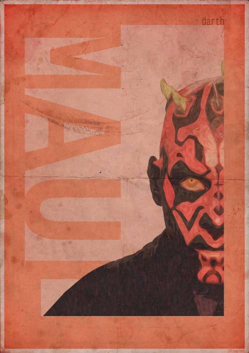 3ftdeep:  Darth Maul Vintage style poster - 3ftdeep by ~3ftDeep Darth Maul vintage style poster. One of a series.I hope you like this one too : )Follow me if you wish on Tumblrtwitter @3ftdeepfacebook.com/3ftdeepThanks for looking : )