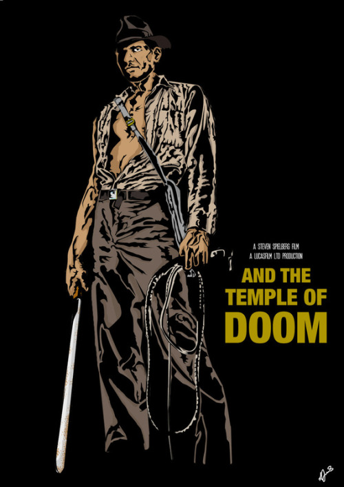 Indiana Jones & The Temple of Doom by Jamesydesign Buy one at society6 if you so wish :)