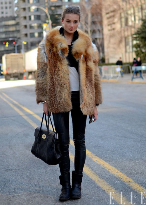 elle:  Street Chic: New York Photo: Courtney D'Alesio