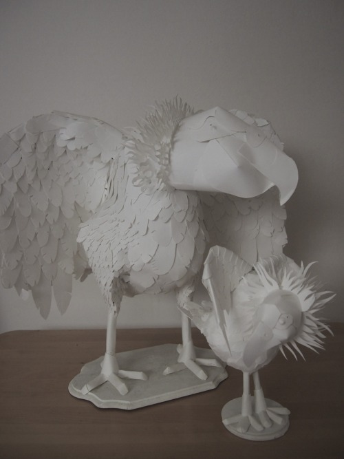 big paperdermy condor with my new mini condor! Both on etsy. http://www.etsy.com/shop/elzicorn