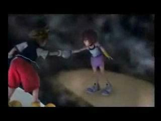 beaman-killyourself:  Day 23- Scene that made you saddest. Sora-Kairi! Remember what you said before? I'm always with you too. I'll come back to you… I promise! Kairi-I know you will!  This was a masterpiece. I finished the first game with a really close friend. This was the kind of friend I act especially manly and brutish around. I swear, make crude jokes, leer, etc. Around each other we're the manliest of men. When we finished the game, something like this happened: Me: So… that's it? What a stupid ending, too many loose ends! Friend: I know right? So dumb… *Awkward Silence* Me: I guess it was an… OK game… right? Friend: Yeah! Yeah… it was pretty damn good Me: It really- I mean, it sure was… *Awkward Silence* Me: I LOVED THIS GAME! Friend: YES! IT WAS AMAZING! SORA AND KAIRI ARE SO IN LOVE AND CUTE TOGETHER! Me: I KNOW! I CAN'T BELIEVE SORA WAS SO CLOSE TO GETTING KAIRI BACK AND THEN GOT IT SNATCHED OUT FROM UNDER HIM!  Friend: I ALMOST CRIED AT THE END! Me: ME TOO! *Lot's of sobbing and squeeing ensued*