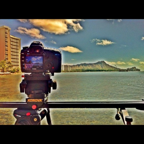 #timelapse #waikiki #diamondhead #canon #konova (Taken with instagram)
