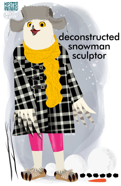hipster-animals:  deconstructed snowman sculptor   If you haven't seen Hipster Animals… you are sorely missing out!