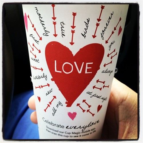 #love #starbucks #valentinesday (Taken with instagram)