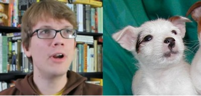 youtubersarepuppies:  Hank Green is a puppy. Submitted by 1writerintraining1)
