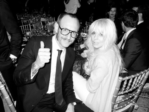 Me and and Lindsay Lohan at the amfAR gala.