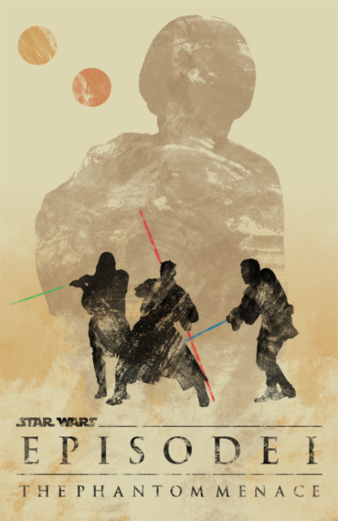 minimalmovieposters:  Star Wars Episode I: The Phantom Menace by Travis English