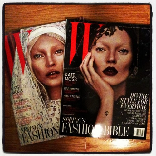 Get it Kate Moss on that double cover. {via Instagram}