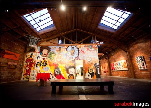 PERCEPTION: A CELEBRATION OF BLACK CULTURE IN AMERICA @ 416 WAREHOUSE, OAKLAND, CA! MURAL SHOWING FEB 3 - 25, 2012