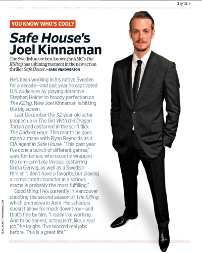 ohvasparetime:  Joel Kinnaman Entertainment Weekly 2/17/12