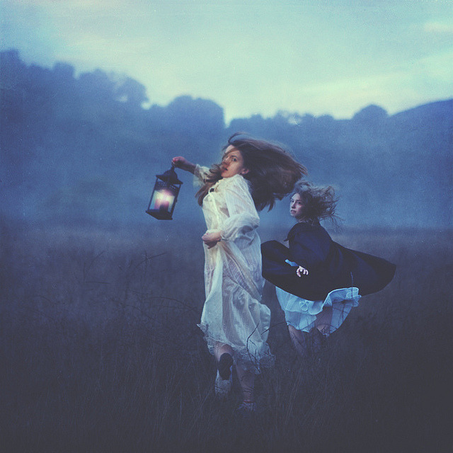 burlapdreams:  curiae:  running from wind by brookeshaden on Flickr.  i love this image! <3 always a re-blog