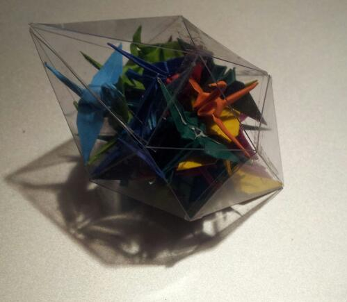 Tiny gem full of cranes