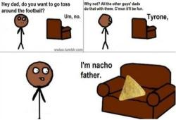 I can't deal!!!!! Tryone is black 2 LMFAO!!!!!! Get it?!?! Nacho sounds like not yo :-)