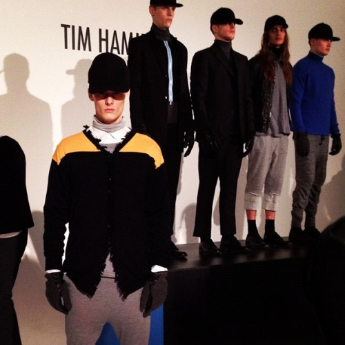 Tim Hamilton Redux gives us an urban army with a spot of sunshine for #fw12 #nyfw (Taken with instagram)