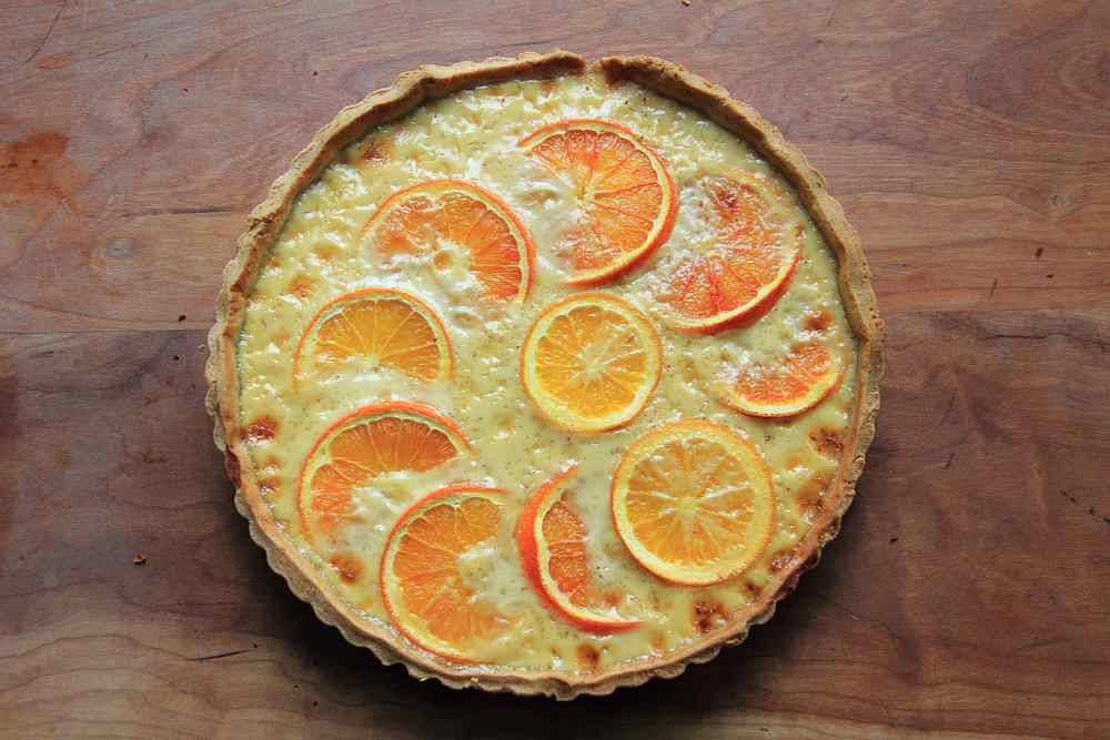 Blood Orange Custard Tart Recipe