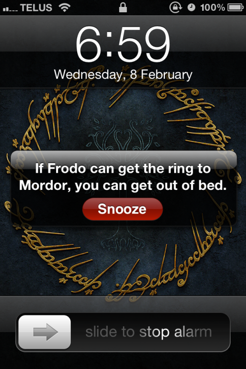 nightfall-in-middle-earth:  This alone is what convinces me to get out of bed every morning.