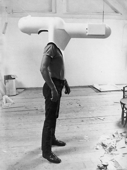 Walter Pichler - TV-Helmet (Portable Living Room) - 1967