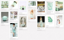 Colour Palette: Seafoam Hey guys! I've put together a collection of cool stuff inspired by a beautiful seafoam colour palette. Use this collage as an inspiration and style board for your next whimsical outdoor party. Picture this… Think fairy lights, an outdoor setting with subtle seafoam details and pretty petite desserts of macaroons and cupcakes… Outfit: Soft, feminine fabrics paired with romantic jewellery pieces to complete the look. 'Til my next board! Nikki