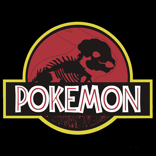 Pokemon Jurassic Park Mashup - by bomdesignz Available on RedBubble