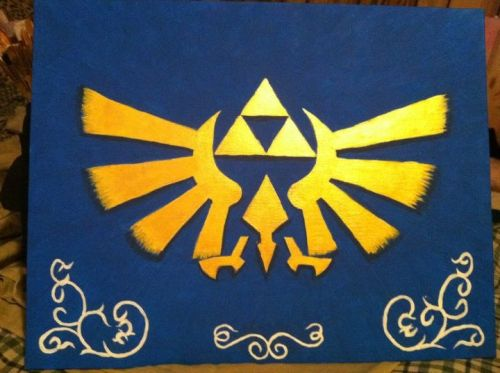 Hylian Crest, 2012. Legend of Zelda fan art.  Legend of Zelda owned by Nintendo.   (SOLD)