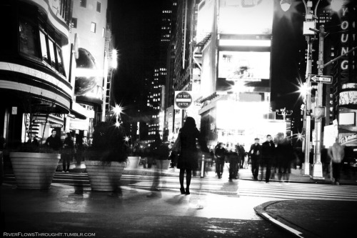 riverflowsthroughit:  There she goes Times Square - alternate perspectives, NYC, February 2012