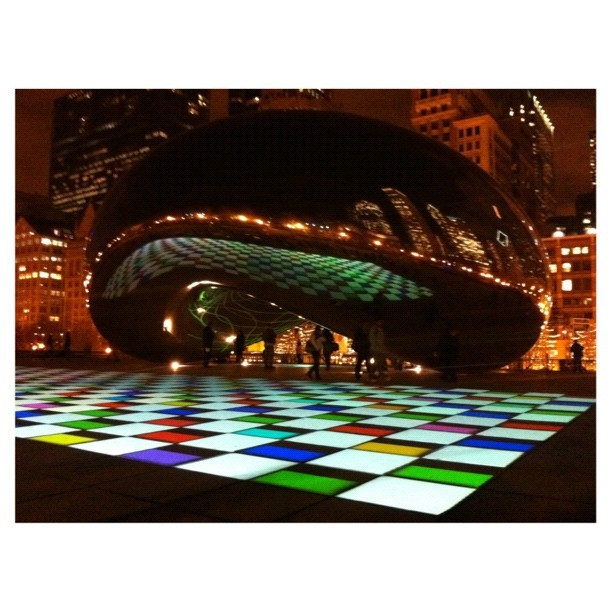 Luminous Field by Luftwerk #iexplore #cloudgate #chicago #bean #igerschicago (Taken with instagram)
