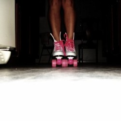 Rollergirl #nofilter#legs#picoftheday#pink#popular#imissmyhips#instafashion#wardrobe#archives (Taken with instagram)