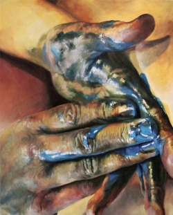 """Chromatic Maladies VI""Cara Thayer & Louie Van PattenOil on Canvas30x24in2012"