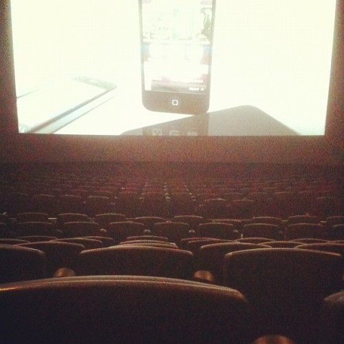 Super full theater. Haha. But these XD seats are amazing.  (Taken with instagram)