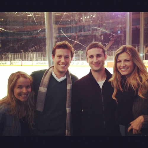 Great night watching @thenyrangers w/ @egerts @jonbudish & @erinandrews at #MSG ! Can't wait for @nyknicks & Lakers tomorrow night… (Taken with instagram)