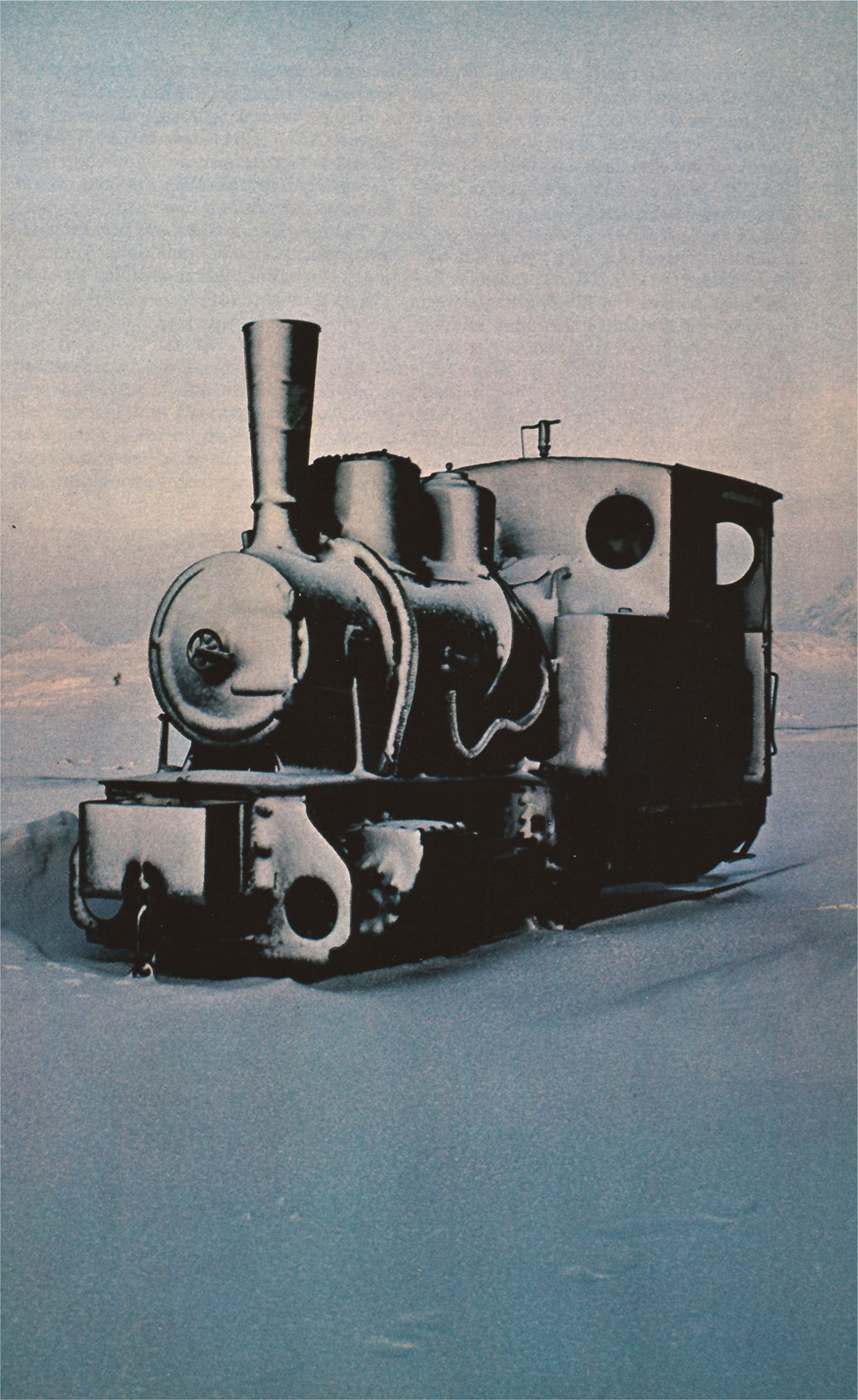 Train frozen in time. Norway, 1978.