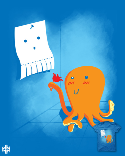 OCTOPUS LOVE. let's spred the sweet love, a submission for threadless: http://www.threadless.com/submission/400715/octopus_love