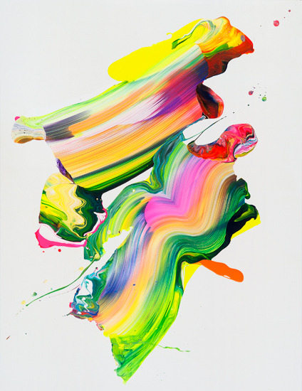 designcloud:  KL30 by yago hortal acrylic on canvas  130x100 cm  2011    I'm not normally a big fan of this kind of painting but I just love the colours in this. It looks really vibrant and happy. A welcome contrast to the dull street view outside my window.