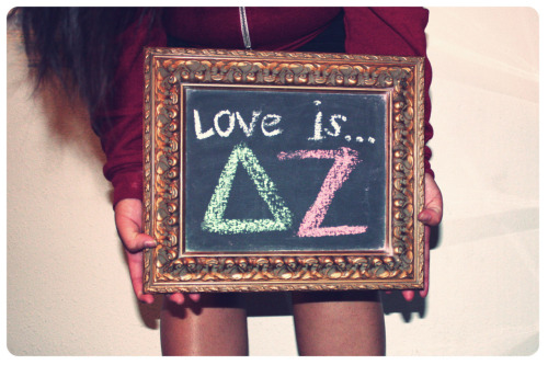 Love is Delta Zeta. I'm wanting to bring this project back… So if you're interested in defining love you should message me :)