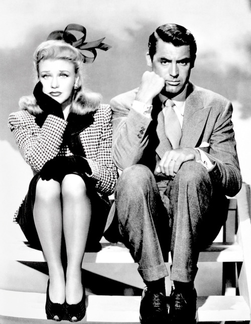 "Cary Grant and Ginger Rogers in ""Once Upon a Honeymoon"" 1942 ♥"