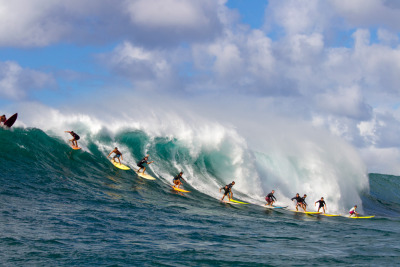 Monday at Waimea Bay, North Shore of Oahu