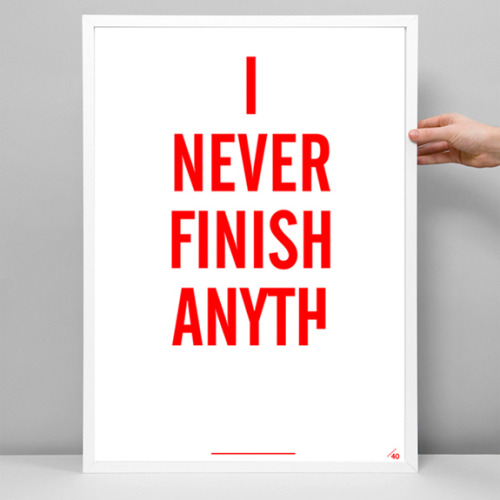I never finish anyth - if you want to see more posts like this, click here…