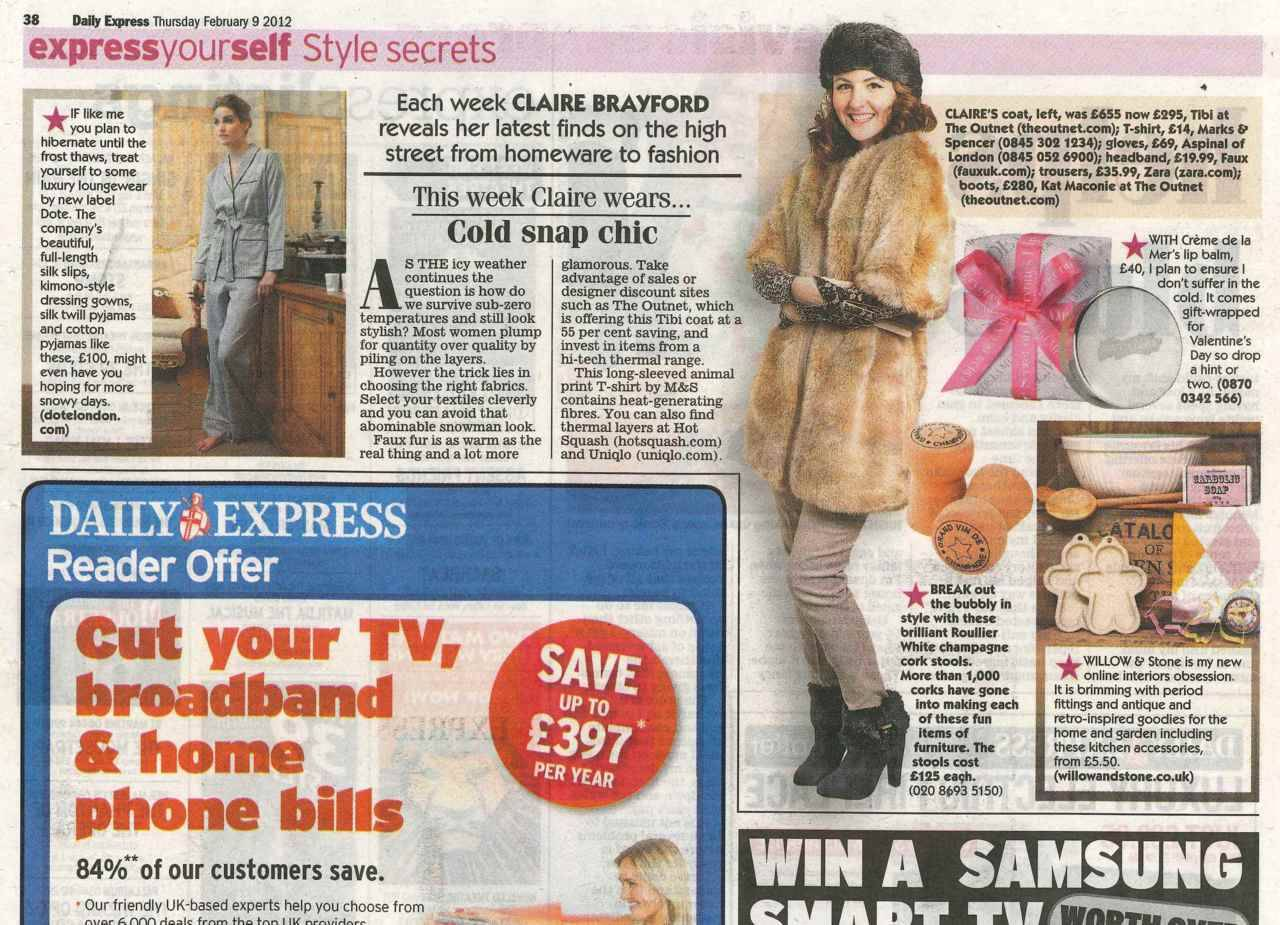 @Faux_UK featured in the Daily Express. Click to shop!