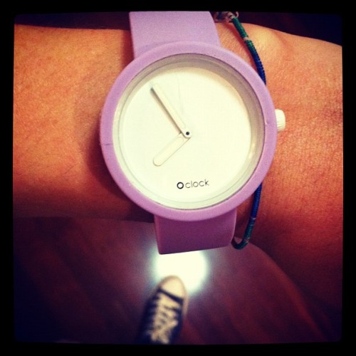 love my watch; have it in #lilac #pink #grey & #turquoise #oclock #watch  (Taken with instagram)