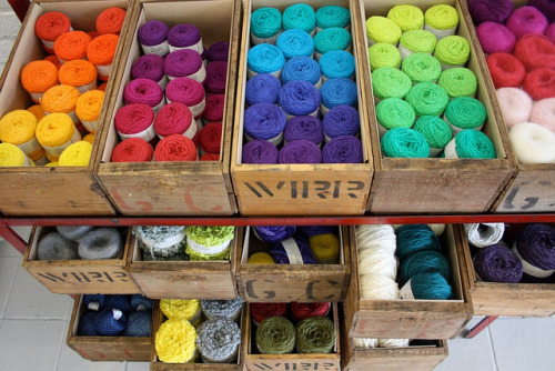 storagegeek:  Gorgeous Wool Stash : Harvest Textiles Yarn porn.