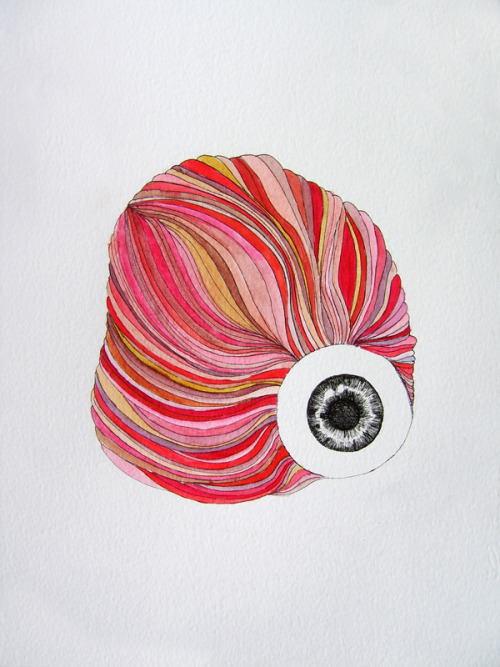 eye - 2012 ink pen & watercolor on paper ©FrankieM 2012